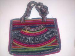 Pizon Handbag Women Purse front pocket Multicolor pink and b
