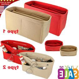 Portable Felt Fabric Purse Case Handbag Organizer Bag Multi