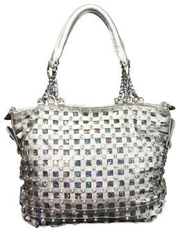 Zzfab Premium Classic Net Bling Handbag Rhinestone Sparkle P