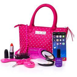 PixieCrush Pretend Play Kid Purse Set for Girls with Handbag