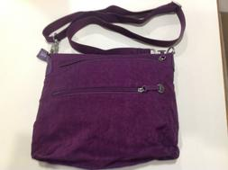 Travelon Purple Nylon Crossbody Shoulder Messenger Bag Sling