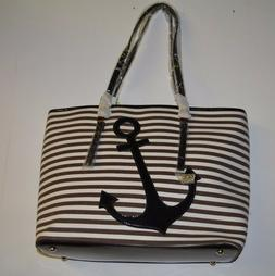 Alyssa Purse Anchor Brown and White Design Brand New Tote