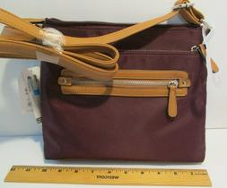 Time and Tru Purse Crossbody Handbag Maroon Purple Abby Shin