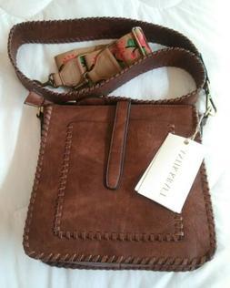 Antik kraft Purse Handbag Crossbody Brown 2 Straps- New with