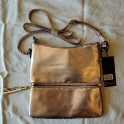 Deluxity Los Angeles Purse/Handbag in Pink Metallic