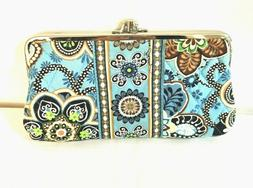 Vera Bradley Purse Multi Colored Blue Paisley Clutch Purse