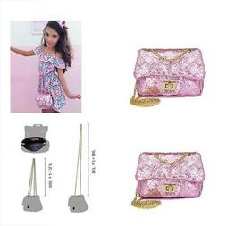 CMK Trendy Kids Quilted Bling Glitter Kids Crossbody Handbag