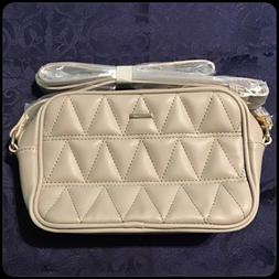 Lovevook Quilted Crossbody Purse Beige Womens