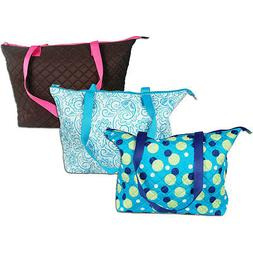 QUILTED SHOPPER TOTE - DURABLE MICRO FIBER - CLEARANCE PRICE