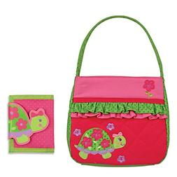 Stephen Joseph Quilted Turtle Purse and Wallet Combo - Gifts