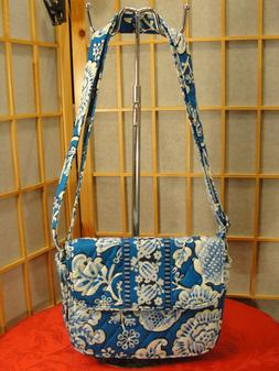 Vera Bradley Rachel Blue Lagoon Crossbody Shoulder Handbag S