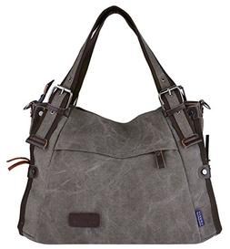 Retro Hobo Style Women's Canvas Casual Handbag Shoulder Bag