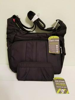 Travelon RFID ANTI THEFT HOBO CROSSBODY BAG TRAVEL SHOULDER