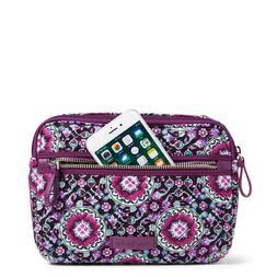 rfid little crossbody in lilac medallion handbag
