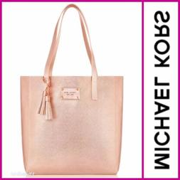 MICHAEL KORS Rose Gold metallic tote bag/purse/shoulder Trav