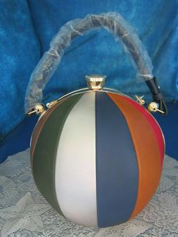 ALYSSA Round Purse Beach Ball Shaped Satchel / Shoulder Bag
