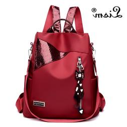 Simple style ladies <font><b>backpack</b></font> anti-theft