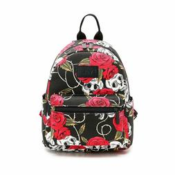 Fvstar Skull Cute Teen Girls Canvas Backpack Outdoor Travel