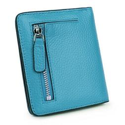- AINIMOER Small Compact Women's Leather Wallet Card Purse