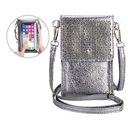 seOSTO Small Crossbody Bag Cell Phone Purse Wallet with 2 Sh