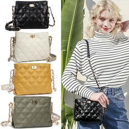 Small Crossbody Chain Bags for Women Purses Fashion PU Leath