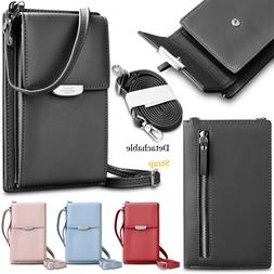 Small Crossbody Wallet Leathe Card Slot Shoulder Bag Cellpho
