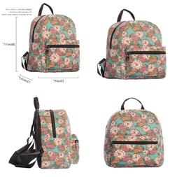 Small Lightweight Canvas Backpack Casual Daypack Ipad Purse