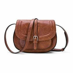 Small Purse Vintage Satchel for Women PU Leather Cover Hasp