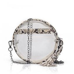 snake leather women summer pvc clear transparent