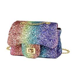 CMK Trendy Kids Sparkly Glitter Toddler Kids Purse for Girls