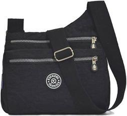 STUOYE Nylon Multi-Pocket Crossbody Purse Bags for Women Tra