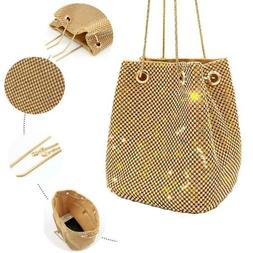 Super Flash Rhinestone Chain Bag Bucket Bag Ladies Evening P