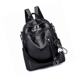 SYKT Backpack Purse for Women Fashion School PU Leather Purs