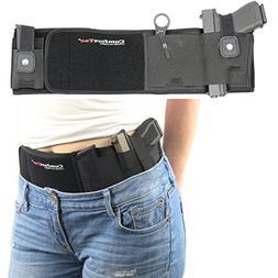 Tactical LONG Belly Band Gun Holster Pistol Waist Concealed