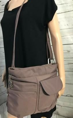 TRAVELON Taupe Purse Bag Crossbody or Shoulder