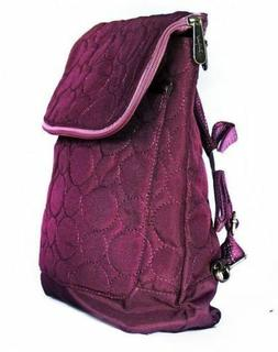 Thirty One Vary You Backpack Purse Quilted Dots Plum