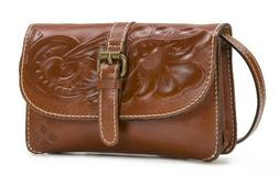 Patricia Nash TORRI Leather Tooled Crossbody Purse FLORENCE