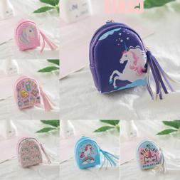 US Baby Girls Cartoon Character Purse Wallet Key Coin Bag Un