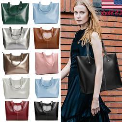 USA Women Genuine Cowhide Real Leather Shoulder Bag Tote Bag