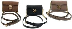 Michael Kors Vanna Pebbled Leather Phone Crossbody Bag/Purse