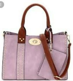 Alyssa Vegan Leather SHOULDER CROSSBODY PURSE BAG HANDBAG 3