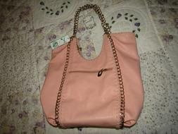ALYSSA VEGAN Purse CREAM PINK ROSE Bag NEW WITH TAGS Glamour