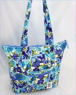VERA BRADLEY VILLAGER TOTE / PURSE in BLUEBERRY BLOOMS - NWT