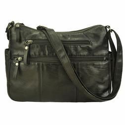 Volcanic Rock Women Crossbody Bag Pocketbooks Soft PU Leathe