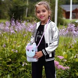 Wallet Handbag Crossbody Purse Kids Girls Unicorn Shoulder B