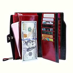 Itslife Wallet Women RFID Blocking Purse Ladies Luxury Wax G