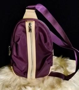 BOSTANTEN Water Resistant Nylon and Leather Trim Backpack Pu