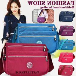 Waterproof Nylon Multi-Pocket Crossbody Purse Bags for Women