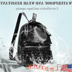 Waterproof  PU Leather Small Backpack Purse Women School Bag