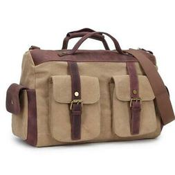 Waxed Canvas Leather Messenger bag for men large crossbody p